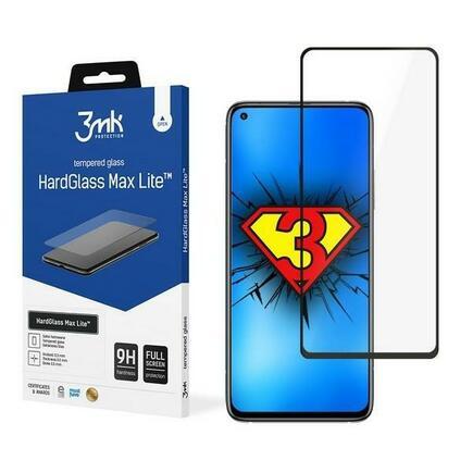 3MK HG Max Lite tvrzené sklo Xiaomi Mi 10T / Mi 10T Pro / Mi 10T Lite černé/black