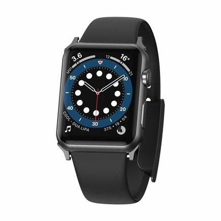 Baseus Slip-Thru řemínek pro Apple Watch 3/4/5/6/SE 38 mm/40 mm černý (LBWSE-01)