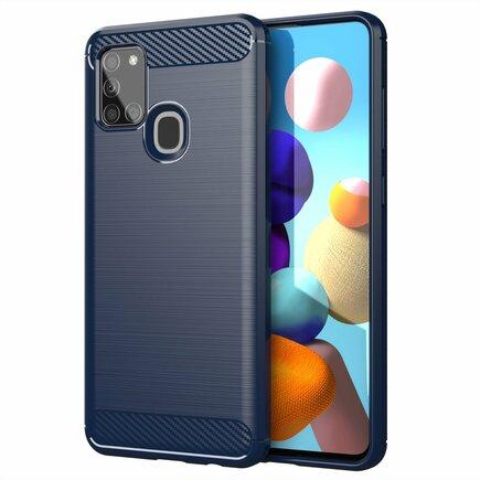 Carbon Case elastické pouzdro Samsung Galaxy A21S modré