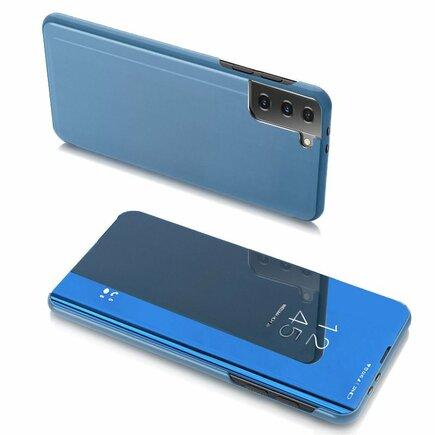 Clear View Case pouzdro s klapkou Samsung Galaxy S21 5G modré
