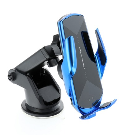 Držák s indukčním automatickým nabíjením HS3 Qi 15W modrý