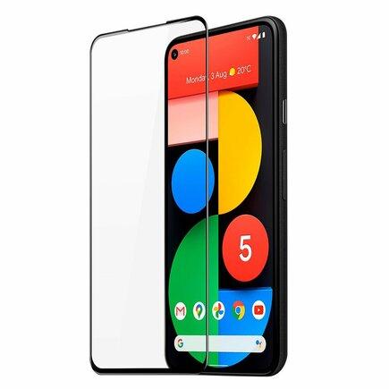 Dux Ducis 10D Tempered Glass odolné tvrzené sklo 9H na celý displej s rámem Google Pixel 5 černé (case friendly)