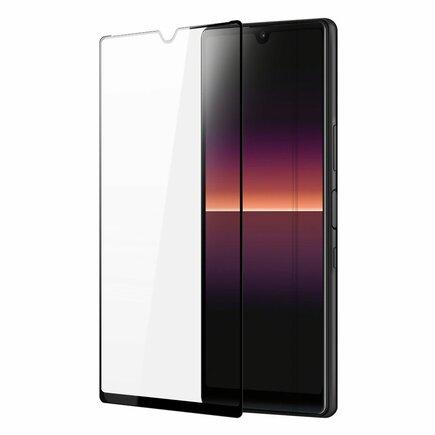 Dux Ducis 10D Tempered Glass odolné tvrzené sklo 9H na celý displej s rámem Sony Xperia L4 černé (case friendly)