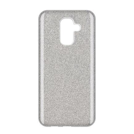 Glitter Case lesklé pouzdro s brokátem Samsung Galaxy A6 Plus 2018 A605 stříbrné