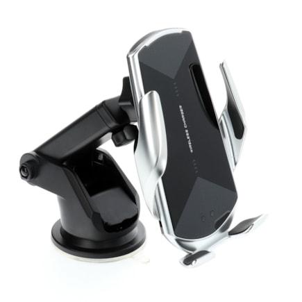HS3 Qi 15W automatický indukční nabíjecí držák stříbrný