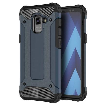 Hybrid Armor pancéřové hybridní pouzdro Samsung Galaxy A8 Plus 2018 A730 modré