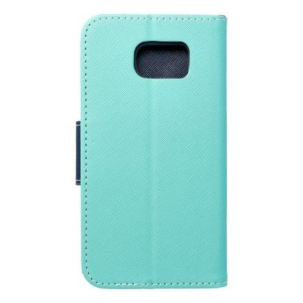 Pouzdro Fancy Book Samsung Galaxy S6 mátově zelené/tmavě modré