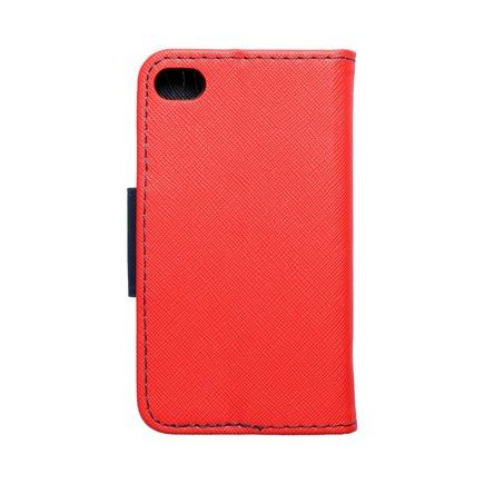 Pouzdro Fancy Book iPhone 4 / 4S červené/tmavě modré
