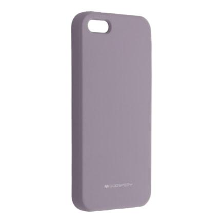 Pouzdro Mercury Silicone iPhone 5 / 5S / SE levandulové