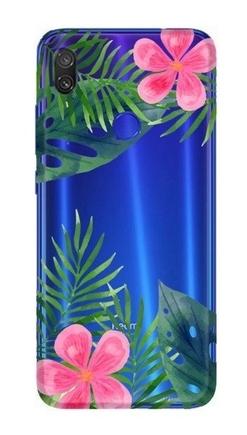Pouzdro s potiskem listy a květiny Xiaomi Redmi Note 7 / 7 Pro