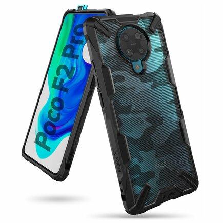 Ringke Fusion X Design pancéřové pouzdro s rámem Xiaomi Redmi K30 Pro / Poco F2 Pro černé Camo Black (XDXI0009)
