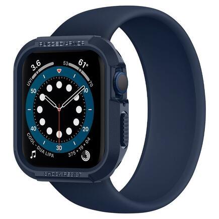 Spigen Pouzdro Rugged Armor Apple Watch 4 / 5 / 6 / SE (44MM) tmavě modré