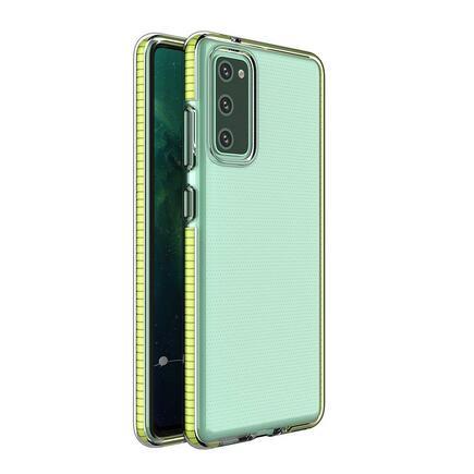 Spring Case gelové pouzdro s barevným rámem Samsung Galaxy S21 Ultra 5G žluté
