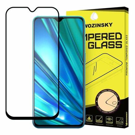Super odolné tvrzené sklo Full Glue na celý displej s rámem Case Friendly Realme 5 Pro černé