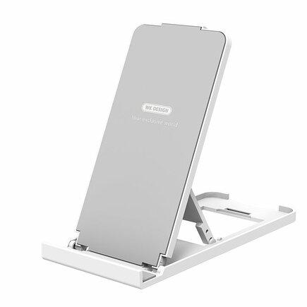 WK Design stolní skládací stojan na telefon a tablet bílý (WA-S35 bílá & stříbrná)