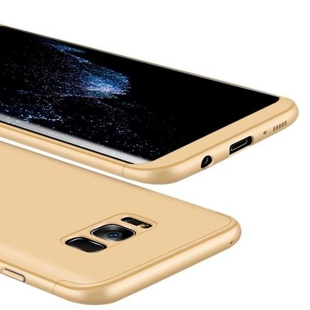 360 Protection pouzdro na přední i zadní část telefonu Samsung Galaxy S8 Plus G955 zlaté
