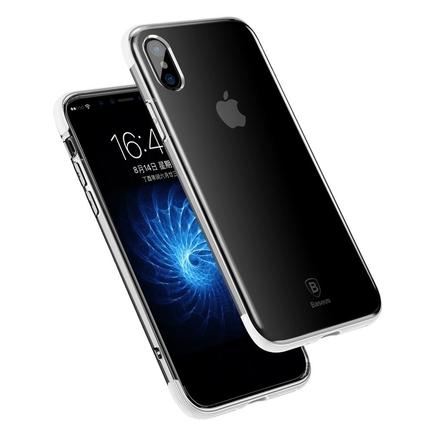 Armor Case průsvitné pouzdro se zesíleným rámem iPhone X bílé