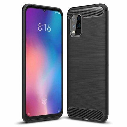 Carbon Case elastické pouzdro Xiaomi Mi 10 Lite černé