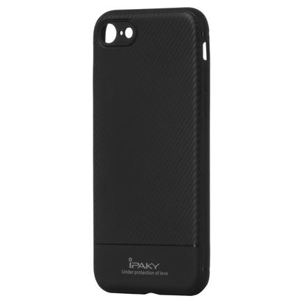 Carbon Fiber elastické pouzdro iPhone 8 / 7 černé