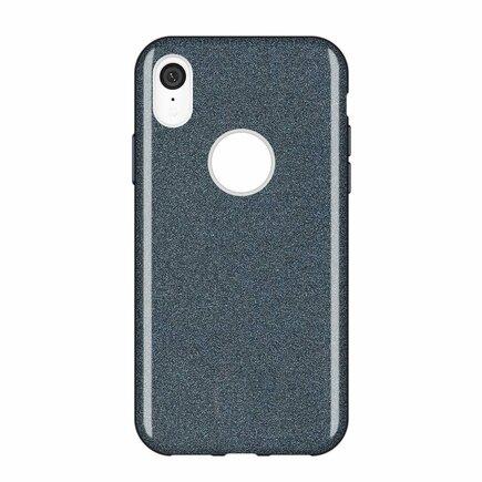 Glitter Case lesklé pouzdro s brokátem iPhone XR černé