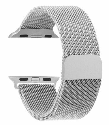Loop Magnetický Kovový Pásek stříbrný pro iWatch 1/2/3 38mm (EU Blister)
