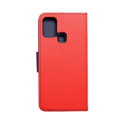 Pouzdro Fancy Book Samsung M31 červené/tmavě modré