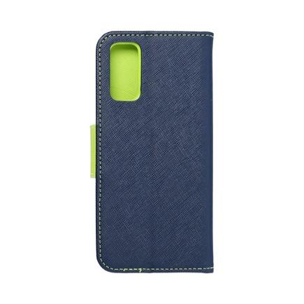 Pouzdro Fancy Book Samsung S21 Ultra tmavě modré/limetkové