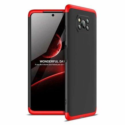 360 Protection Case pouzdro na přední i zadní část telefonu Xiaomi Poco X3 NFC černo/červené
