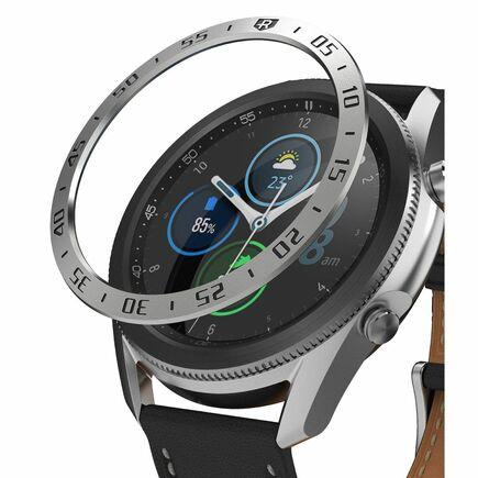 Bezel Styling pouzdro / rám pro Samsung Galaxy Watch 3 45 mm stříbrné (GW3-45-01)