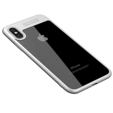 Frame elastické gelové pouzdro s rámem iPhone X bílé