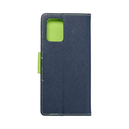 Pouzdro Fancy Book Samsung S10 Lite tmavě modré/limetkové
