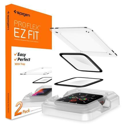 "Spigen hybridní sklo Proflex ""Ez Fit"" Apple Watch 4 / 5 (44mm)"