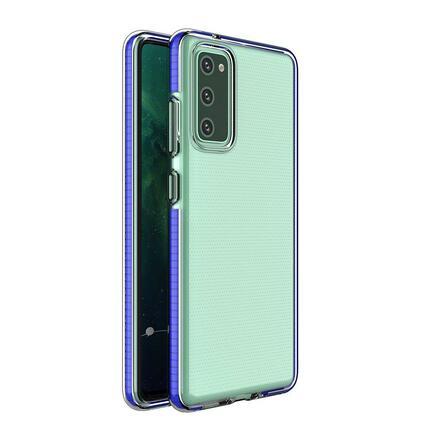Spring Case gelové pouzdro s barevným rámem Samsung Galaxy S21 Ultra 5G modré