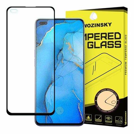 Super odolné tvrzené sklo Full Glue na celý displej s rámem Case Friendly Oppo Reno3 Pro černé