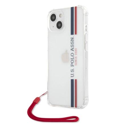 U.S. Polo PC/TPU Vertical Stripes Pouzdro pro iPhone 13 průsvitné