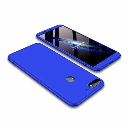 360 Protection pouzdro na přední i zadní část telefonu Huawei Y7 Prime 2018 modré