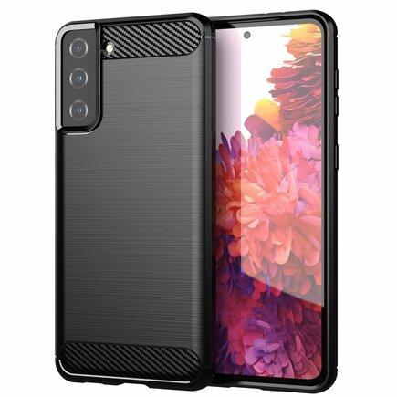 Carbon Case elastické pouzdro Samsung Galaxy S21+ 5G (S21 Plus 5G) černé