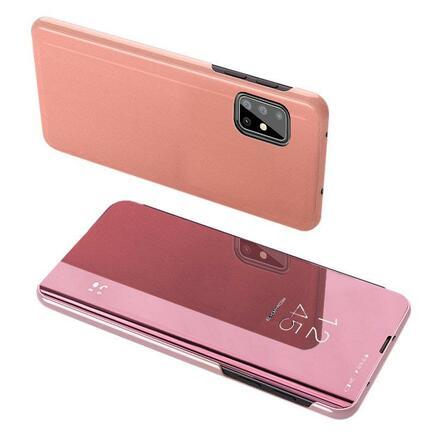 Clear View Case pouzdro s klapkou Samsung Galaxy M31s růžové