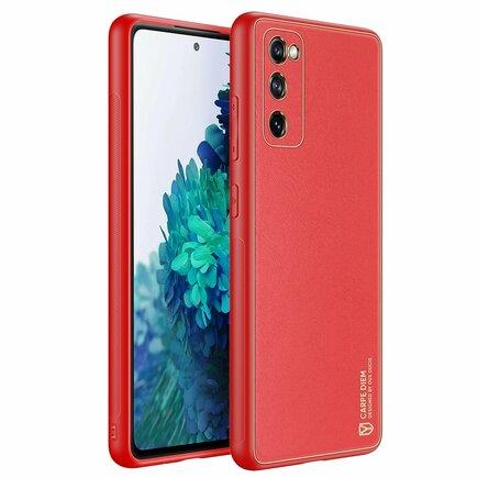 Dux Ducis Yolo elegantní pouzdro z eko kůže Samsung Galaxy S20 FE 5G červené