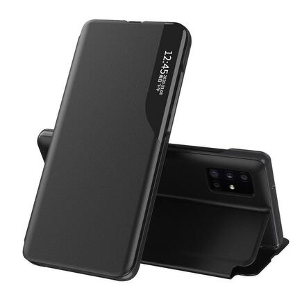 Eco Leather View Case elegantní pouzdro s klapkou a funkcí podstavce Samsung Galaxy S20 Ultra černé