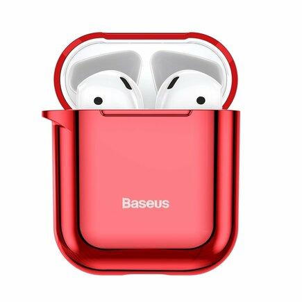 Lesklé silikonové pouzdro pro sluchátka AirPods 2gen / 1gen červené (ARAPPOD-A09)