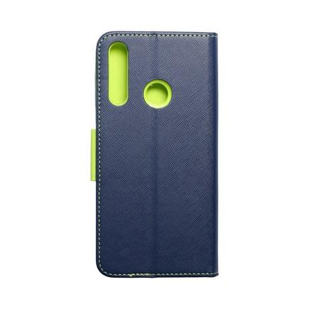 Pouzdro Fancy Book Huawei Y6P tmavě modré/limetkové
