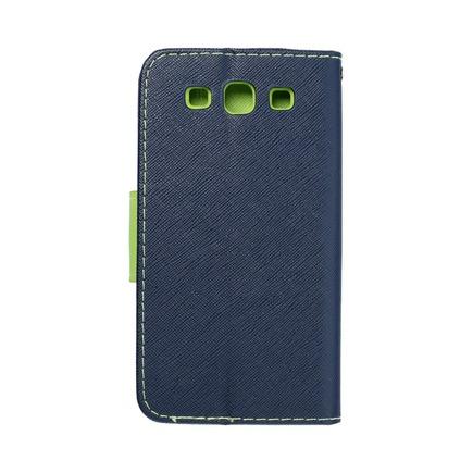 Pouzdro Fancy Book Samsung Galaxy S3 (I9300) tmavě modré/limetkové