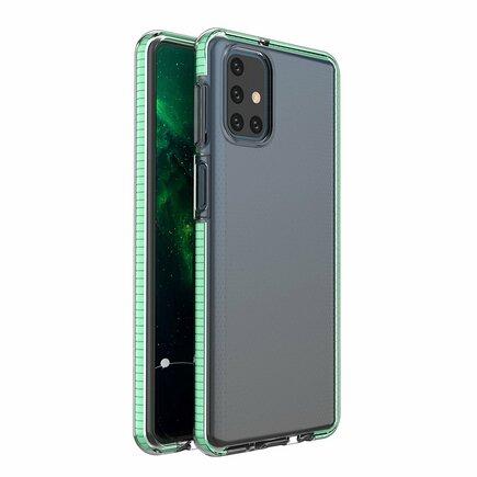 Spring Case gelové pouzdro s barevným rámem Samsung Galaxy M31s mátově zelené