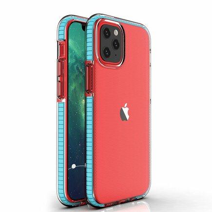 Spring Case gelové pouzdro s barevným rámem iPhone 12 mini světle modré